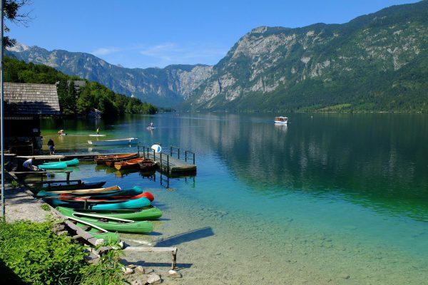 Der Bohinj-See.