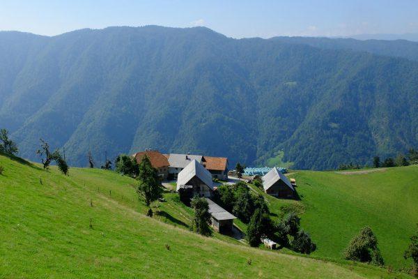 Der weitere Weg nach Idrija führt in 900 bis 1000 Meter Höhe an einsamen Bauernhöfen vorbei.