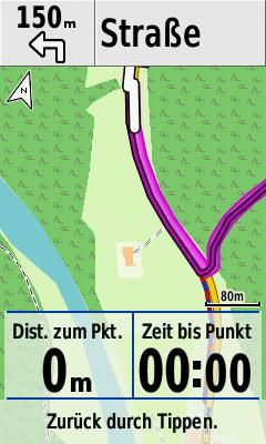 Blindflug: eigener Standort schon lange außerhalb der Anzeige.